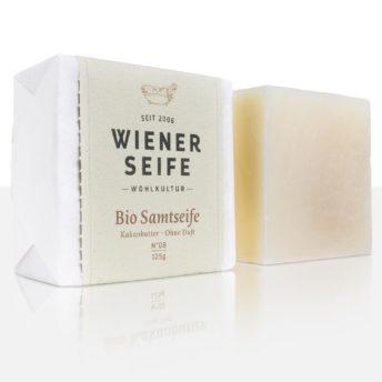 Wiener Seifenmanufaktur. N° 08 Bio Samtseife (vormals Kakaobutter)