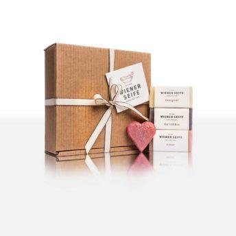 Amour Box mit Amour Seife, Sisi Veilchen Seife, Orangenöl Seife, Roter Mohn Seife. Geschenk