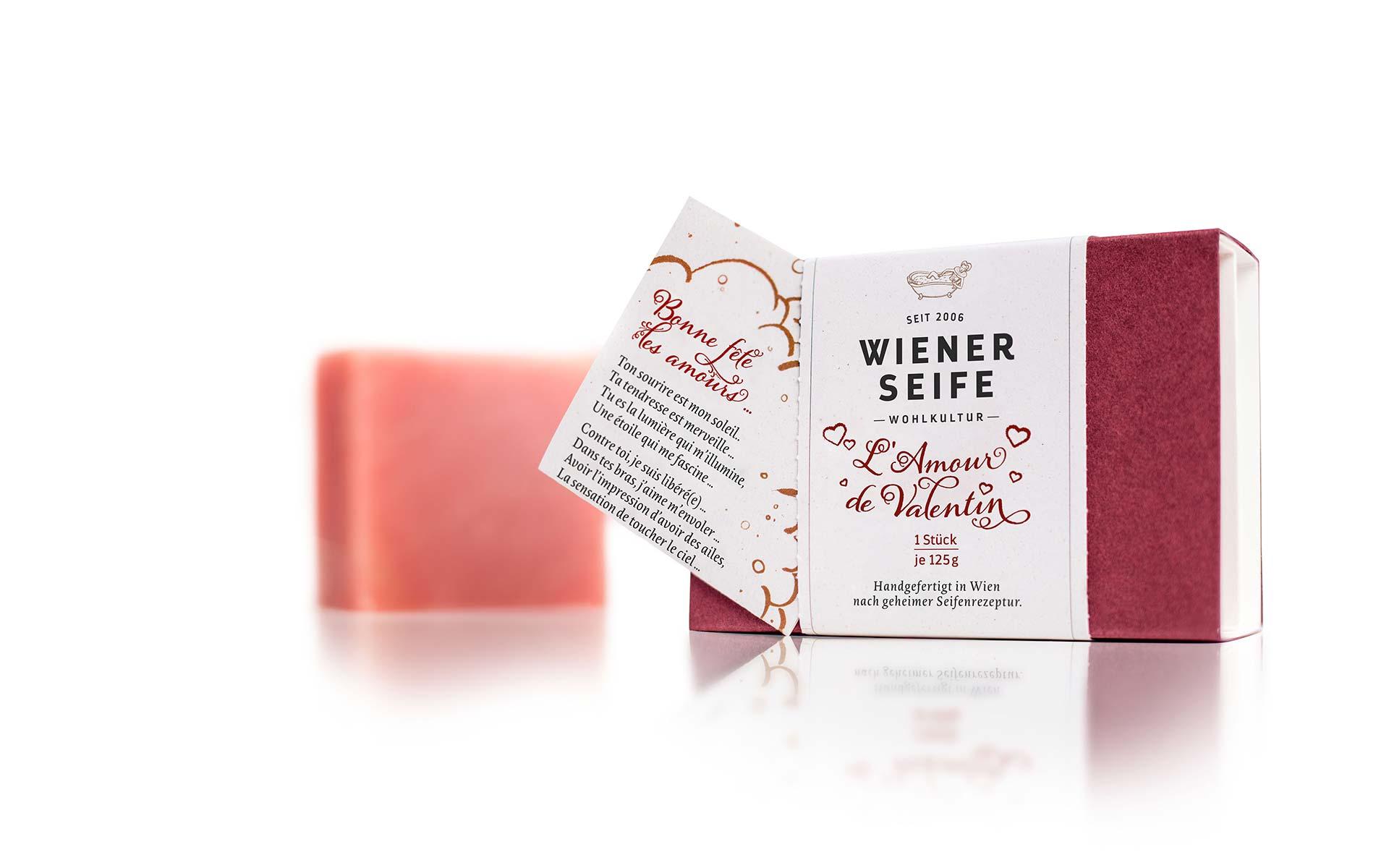 Geschenk zum Valentinstag, Wiener Seife